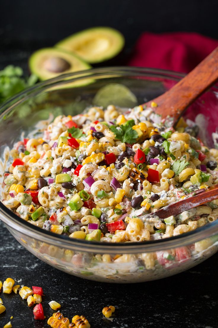 Mexican Macaroni Salad if you dont like black beans add another protein you like. cookingclassy.com