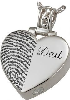 Unique Fingerprint Jewelry to Cherish Forever But life moves on and all one has are the beautiful moments spent with the deceased person.Buying Memorial jewelry is a way in which you can keep the treasured memories of your loved one close to your heart and Urns UK helps you in finding the perfect piece of keepsake jewelry. One such exclusive piece of jewelry as a memorial is the fingerprint jewelry…