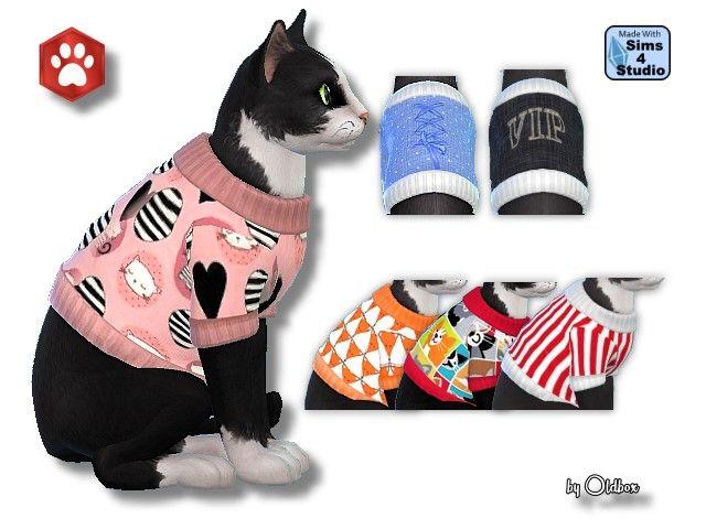Pullover Fur Katzen Oldbox S Sims 4 Tierhandlung All4sims De Sims 4 Pets Sims Pets Sims 4