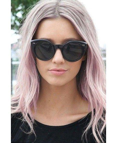 Ash blonde with bubblegum pink