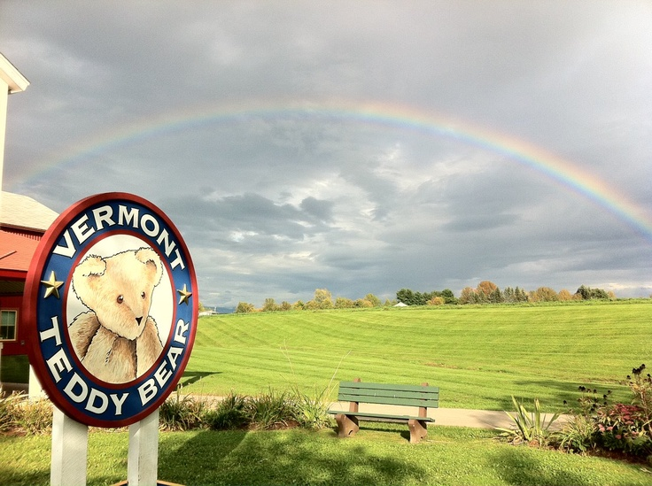 Beautiful rainbow at the Vermont Teddy Bear Factory in Shelburne, VT