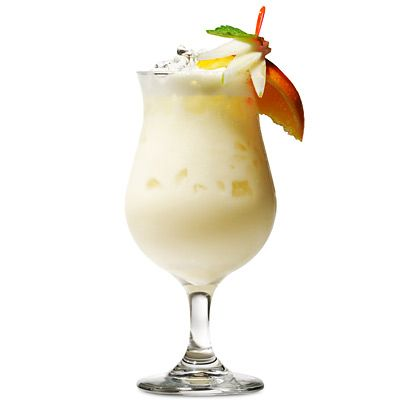 1/4 cup pineapple, diced  1 ounce white rum  2 ounces light coconut milk  2 ounce pineapple juice  3-4 ice cubes     Directions: This one is a breeze: Put all ingredients into a blender and process until smooth. Garnish with pineapple wedge for beach appeal.