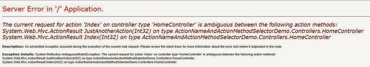 ActionNameSelector & ActionMethodSelector