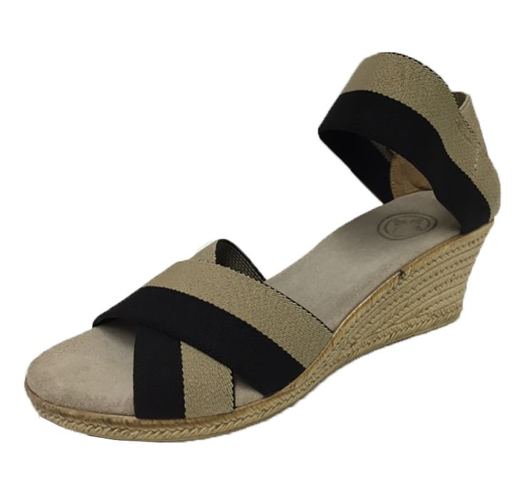 Something You - Charleston Shoe - Cannon Sandal - Tan Mix Black and Tan, $110.00 (http://www.somethingyou.com/new/charleston-shoe-cannon-sandal-tan-mix-black-and-tan/)
