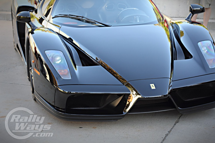 Black Ferrari Enzo - A lot more sinister than the red one. Cars and Coffee Irvine.