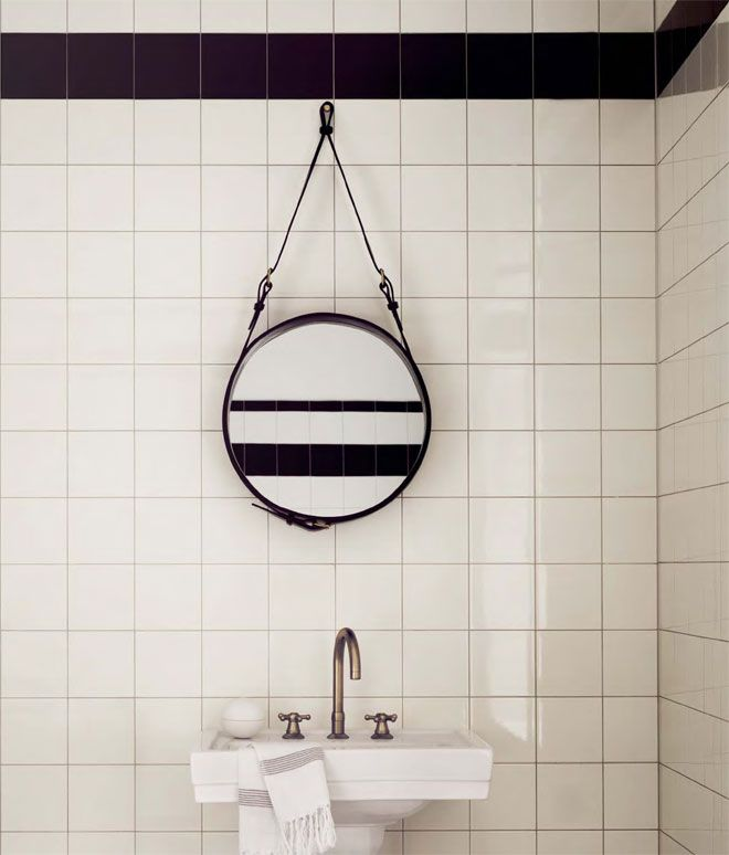 Old school black and white bathrooms, love them
