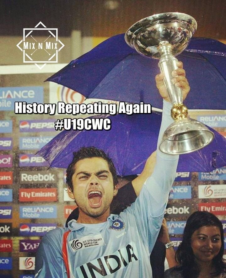 History Repeating Again #U19CWC  #Indian Cricket team #India vr #Australia #cricketmatch