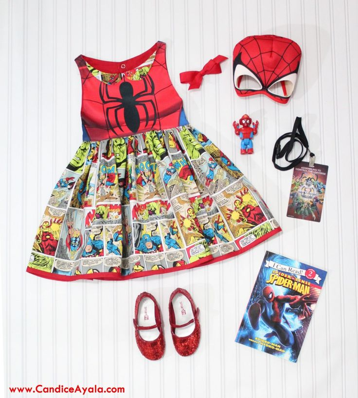 DIY Spiderman / Avengers Dress - Sewing for Girls - Sewing for Kids - DIY - Super Hero - Spiderman