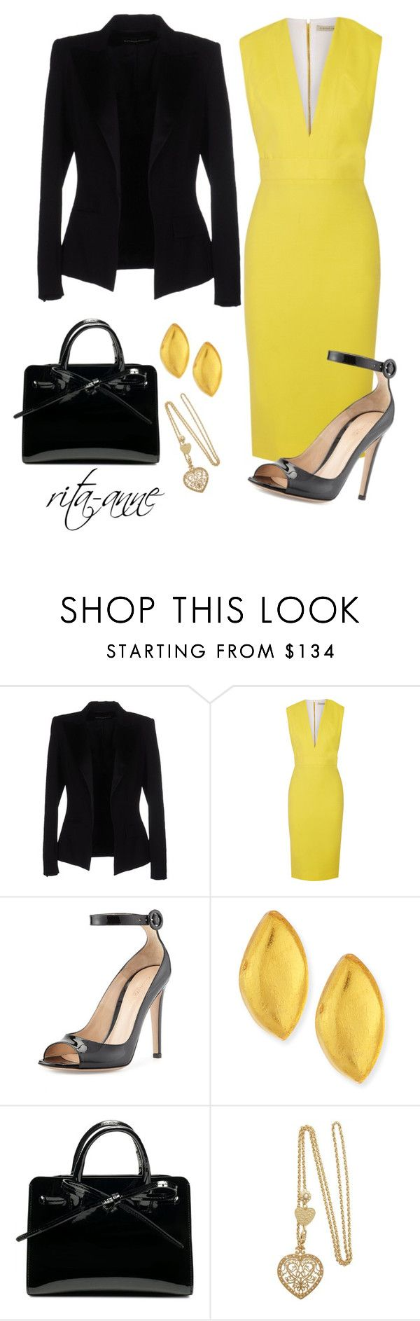 """Workplace Wardrobe"" by rita-anne ❤ liked on Polyvore featuring Alexandre Vauthier, Victoria Beckham, Gianvito Rossi and Viktoria Hayman"