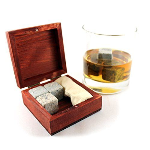 Whisky Steine Set by Fergus McLean - 6 K�hlsteine in eleganter Holzbox