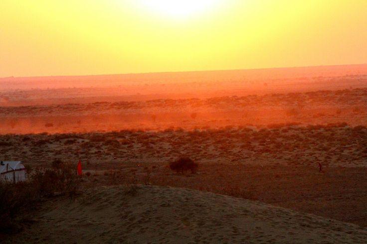 Lovely sunset at the Thar desert