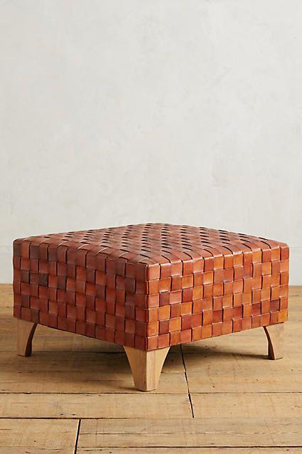 Leather Loom Ottoman