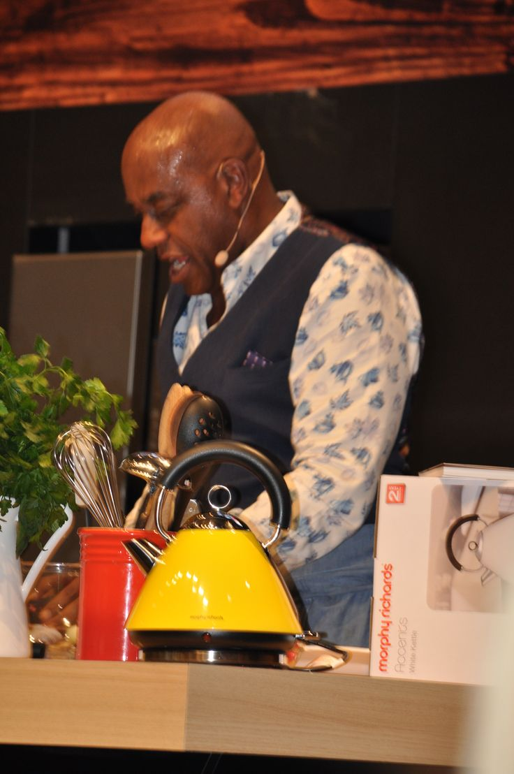 Ainsley Harriot & Morphy Richards Accents Kettle at the Melbourne Good Food & Wine Show - June 5th 2015