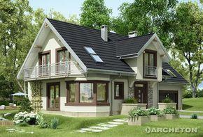 Projekt domu Turkus - przestronny i funkcjonalny dom z dużą jadalnią w kuchni oraz garażem na 2 samochody