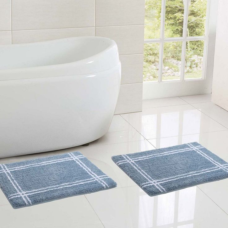 Vcny Clark Hotel 2-pc. Memory Foam Bath Rug Set, Blue