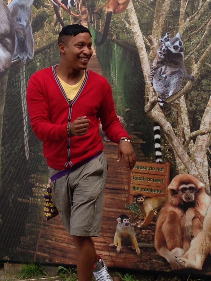 Elroy running from the monkeys.