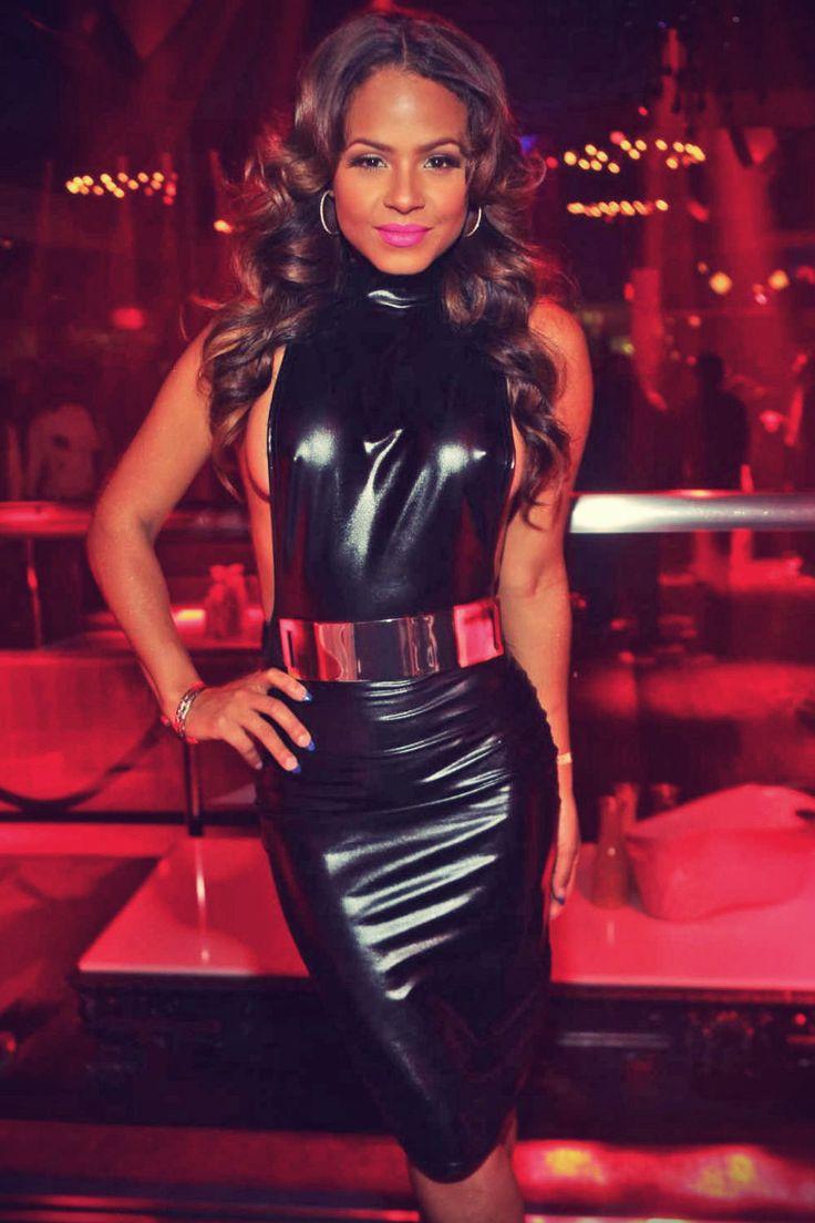 Christina Milian At Prive Nightclub Celebs In Leather