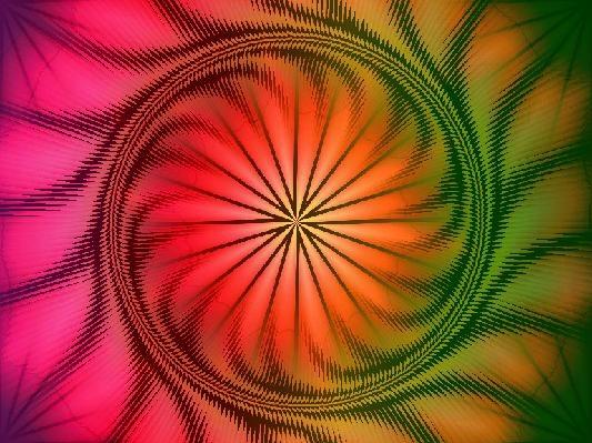 Rainbow Spiral Art Piece: Rainbows Spirals, Spirals Art, Art Pieces