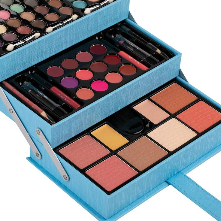 Cosmetics included Eye shadows, Blush, Powders, Lip gloss