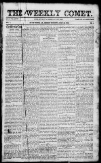 EAST BATON ROUGE PARISH, Louisiana - Baton Rouge - 1853-1855 - The Weekly Comet. « Chronicling America « Library of Congress