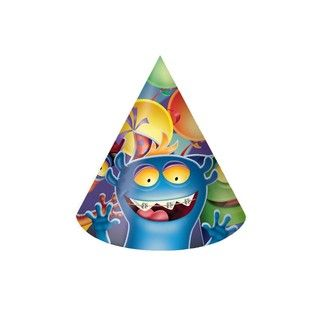 Monster Mania Child Party Hats - 8 Pack - Creative Converting