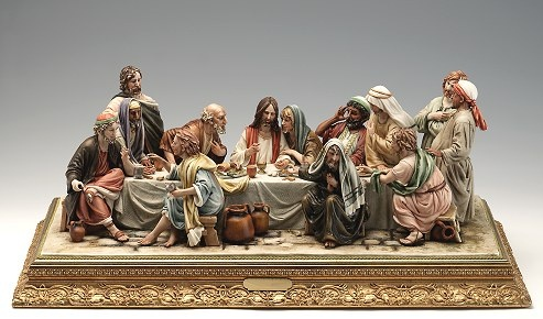 Capodimonte Italian Finest Quality Flowers and Figurines..THE LAST SUPPER..MAGNIFICENT:
