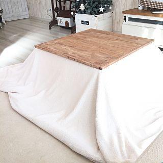 こたつ×こたつDIYのインテリア実例 | RoomClip (ルームクリップ) Lounge/ダイソー/ナチュラル/ハンドメイド/DIY/手作り/こたつ/DIY家具