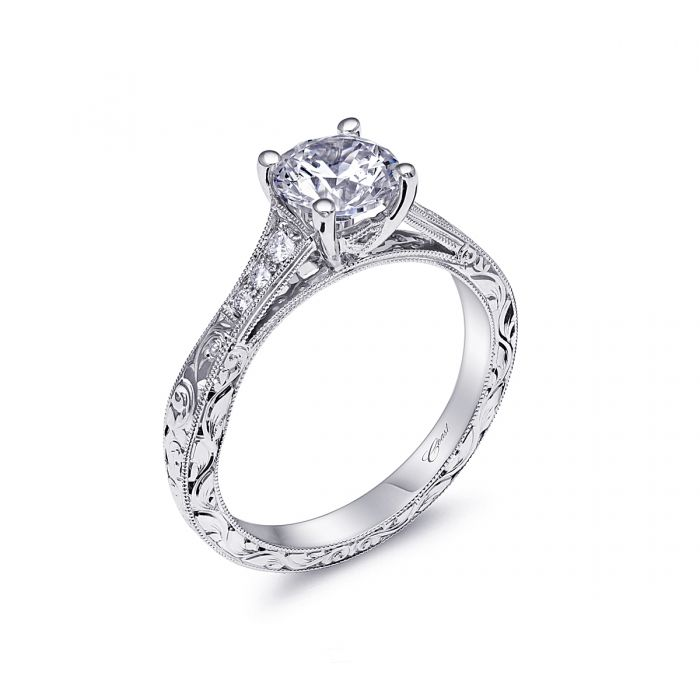 Los Angeles Round Diamond Engagement Rings Engagement Rings