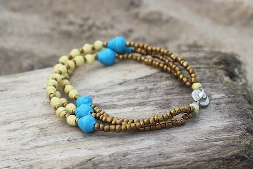 Inspired by the #beauty of the #sea and handcrafted by #Ugandan #artisans, this Kei #bracelet is sure to be the perfect accessory for the #summer! You'll be stylish and helping #empower the people of #Uganda through stable income opportunities, education, and social support.
