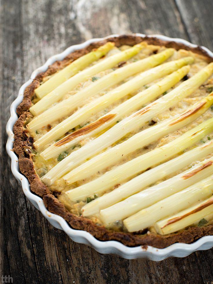 Tarta z białymi szparagami wegańskie bezglutenowe