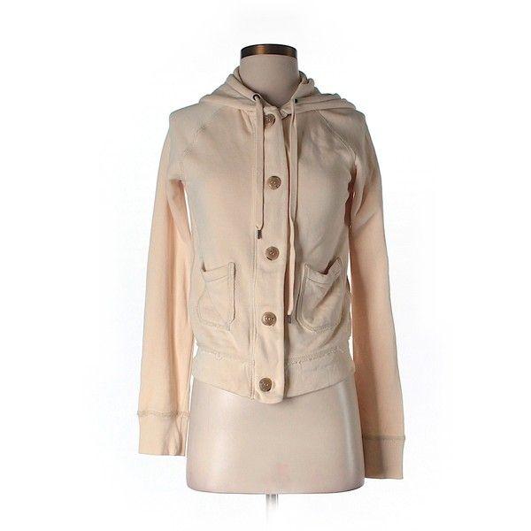 Pre-owned J. Crew Zip Up Hoodie ($19) ❤ liked on Polyvore featuring tops, hoodies, beige, zip up tops, zip up hoodies, beige hoodie, hooded sweatshirt and beige top
