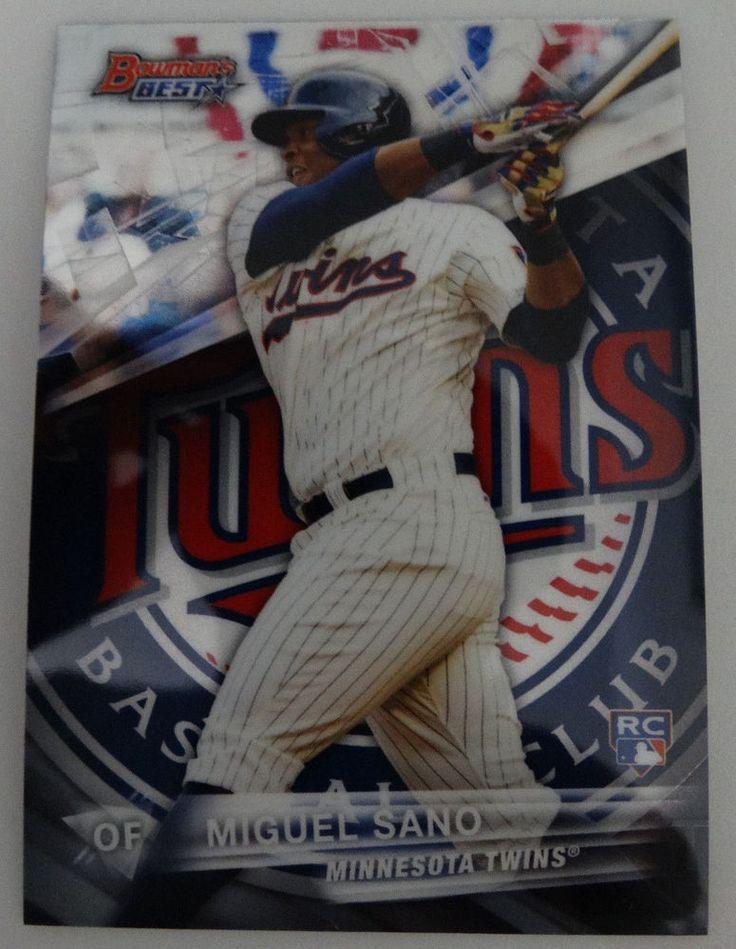 2016 Bowman's Best #15 Miguel Sano Minnesota Twins Baseball Card #MinnesotaTwins