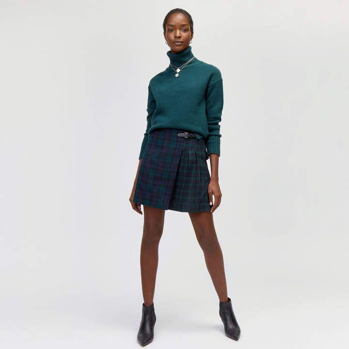 "Ladies Knee Length Wallace Kilt Skirt 20/"" Length Tartan Pleated"