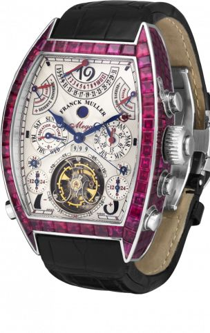 Franck Muller Aeternitas Mega; Nice for when my suit requires 18k white gold & lots of rubies...