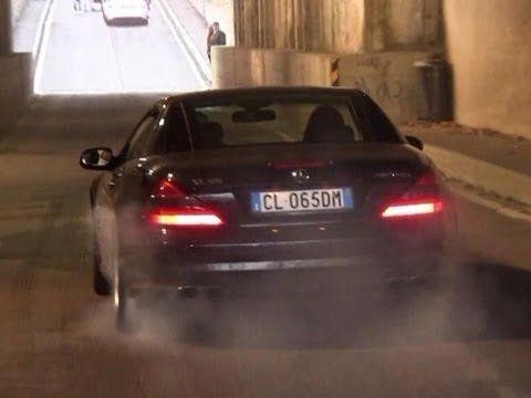Mercedes SL55 AMG BURNOUT  C63 Acceleration SOUND