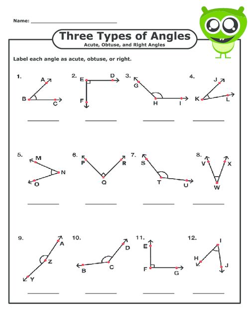 types of angles worksheet 7th grade geometry worksheets angles for practice and studyangles. Black Bedroom Furniture Sets. Home Design Ideas