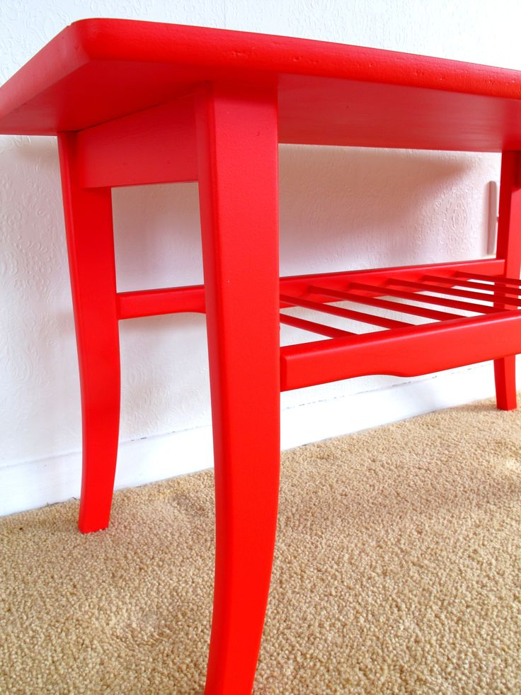 Fire engine Red - sure to stand out in any room.