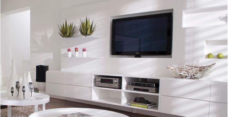 Billig tv highboard weiß