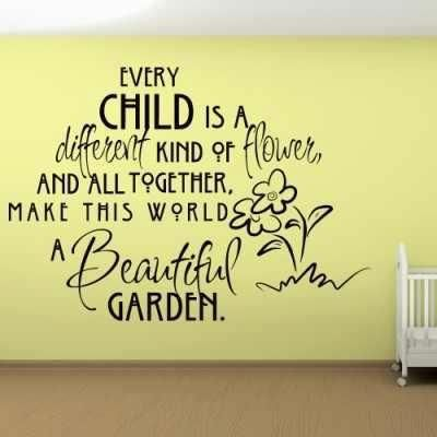 Perfect quote for a flower themed kids room!