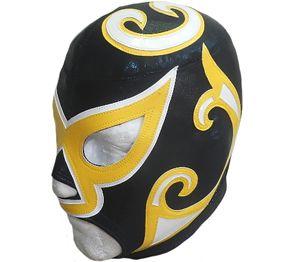 eLucha - Custom Wrestling Gear - Masks - Baggy Shorts - Baggy Pants - Long Tignts - Hoodies, Jackets, Tops - Vest - Bicker Shorts - Full Sets - Custom work - Cyclone black/yellow wrestling mask.
