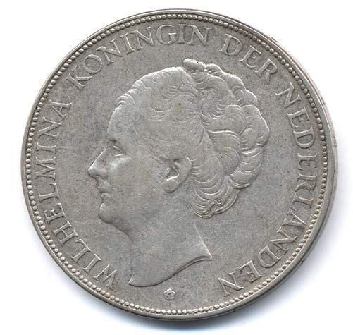 Netherlands 2-1/2 Gulden Silver Coin 1932 door Villagecoinshop