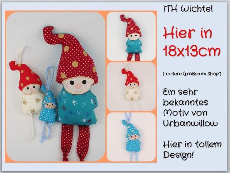 Stickmuster - WICHTEL ITH Stickdatei 18x13 - ein Designerstück von Tanja-macht-Geschenke bei DaWanda
