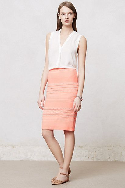 Puckered Stripes Pencil Skirt #anthropologie $49.95