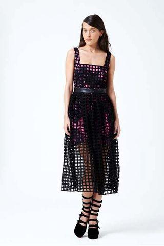 Shakuhachi Petal Press Square Lace Overlay Dress – Eclectic Ladyland