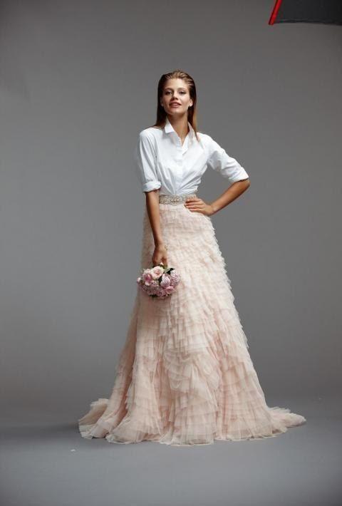 Este sorprendente e inesperado conjunto: | 36 vestidos de novia de dos piezas ultra glamorosos