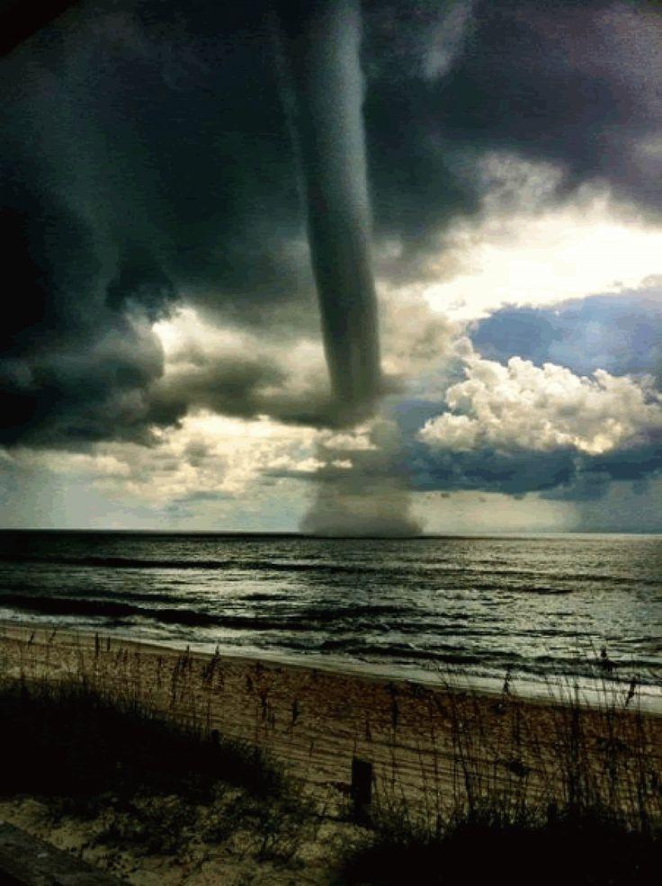 Breathtaking photos of waterspout at Carolina Beach, NC Like this.
