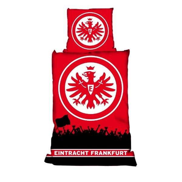 Bettwäsche Fans Eintracht Frankfurt - Bundesliga, Fußball, Soccer, Fanartikel, Schlafzimmer, Bett - http://www.multifanshop.de