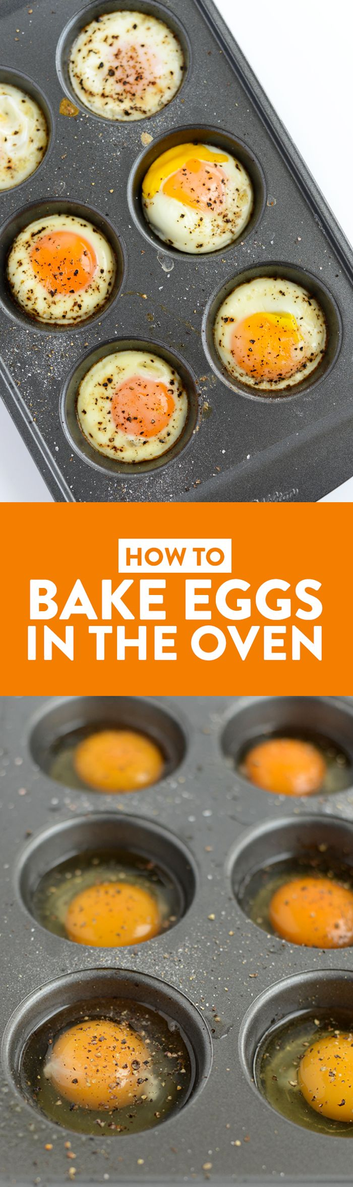 Follow this guide for how to bake eggs in the oven and you will have an easy-to-make, high-protein snack with all of the hard-boiled egg goodness minus the hassle of peeling off that stubborn shell. You can eat it at home or on the go, hot or cold. Ya really can't go wrong with learning how to bake eggs in the oven, it's total game changer!
