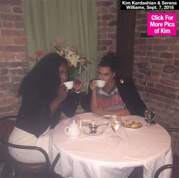 What tournament? Serena Williams may be in the thick of the US Open, but on Sept. 7 she took time out of her hectic schedule to grab a spot of tea with Kim Kardashian in New York City. Tres chic!