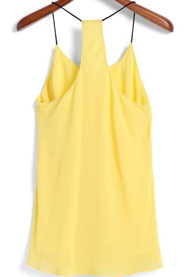 Shop Spaghetti Strap Yellow Cami Top online. SheIn offers Spaghetti Strap Yellow Cami Top & more to fit your fashionable needs.